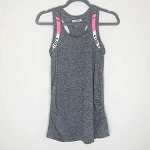 Love Fit by Reflex Racerback Tank Top Gray Small